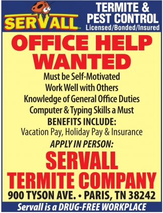 Office Help Wanted